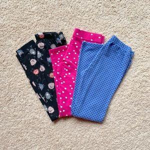 Girls set of 3 GAP leggings